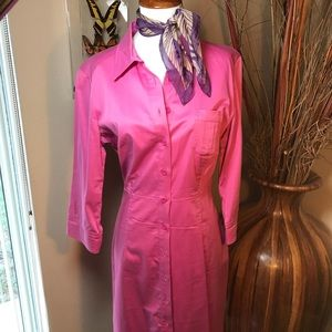 Express Button Up Long Maxi Shirt Dress Pink 9/10